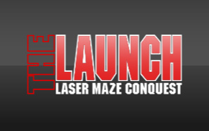 Graphic for 'The Launch' premium laser maze