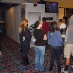 People love looking at the laser maze challenge